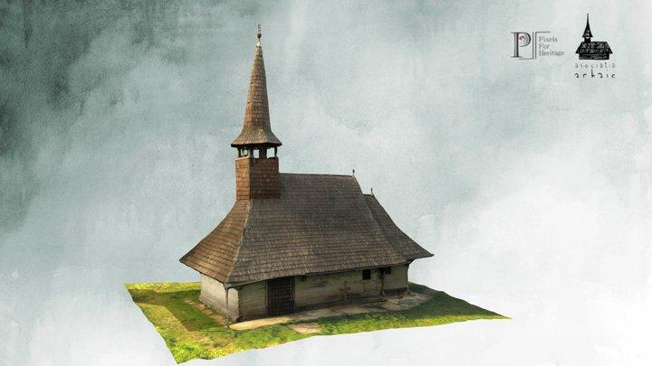 Biserica de lemn de la Zalnoc (jud. Sălaj) 3D Model
