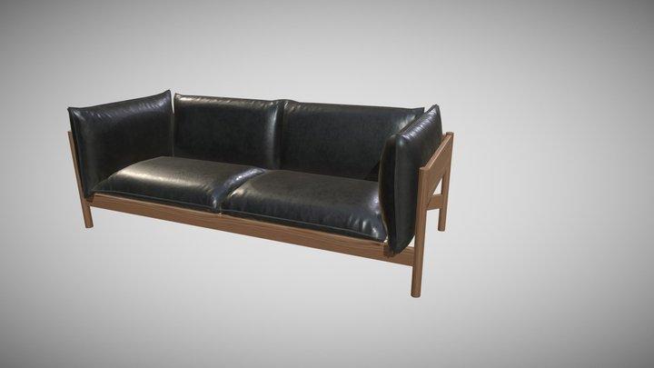 Low poly Sofa 3D Model
