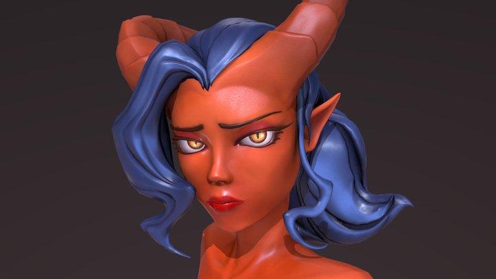 Emma, the tiefling 3D Model