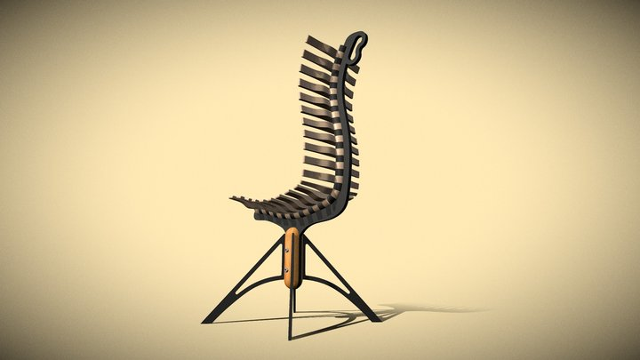 """Move it"" chair - by Semen Lavdanskiy 3D Model"
