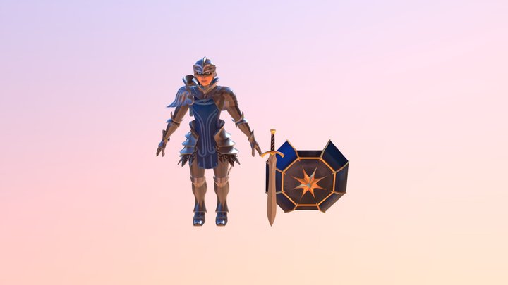Quest Accepted - Warrior 3D Model