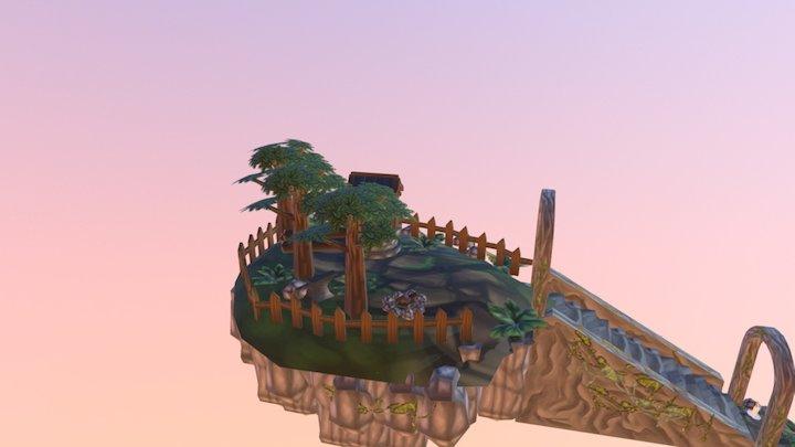 Keep It Low Poly island 3D Model