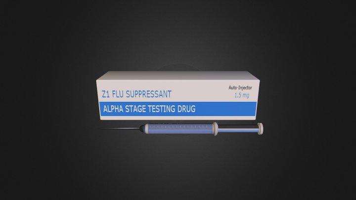 Z1 Flu Suppressant 3D Model