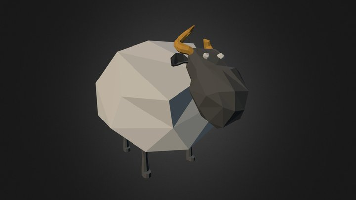 Low Poly Sheep 3D Model