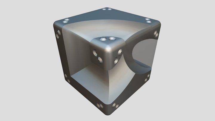 Text Cube 3D Model