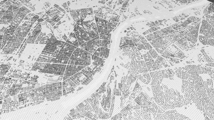 BUDAPEST CITY 3D 3D Model