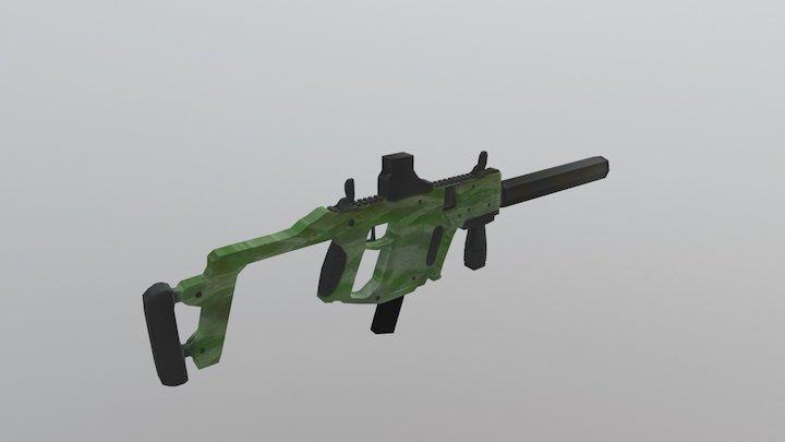 Kriss Vector Camo Low Rez Normal Map 3D Model