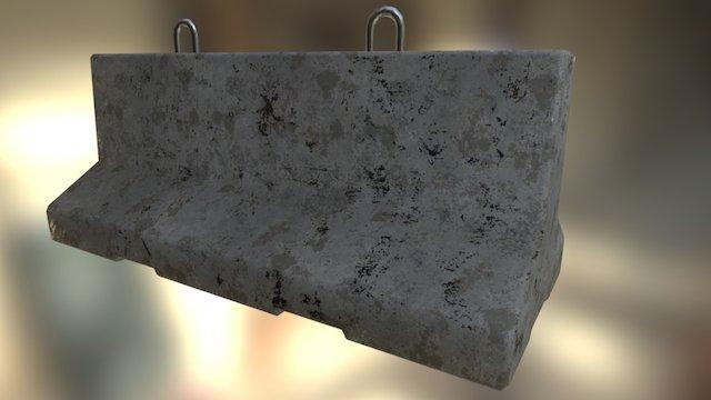 Barrier béton 3D Model