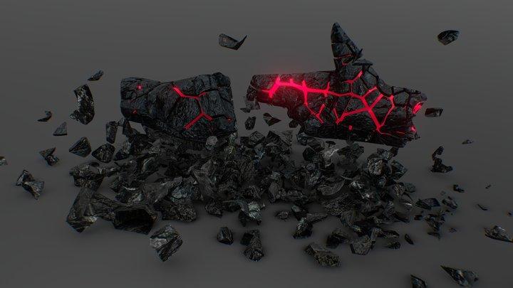 RTJ4D Shattered Rocks ! 3D Model