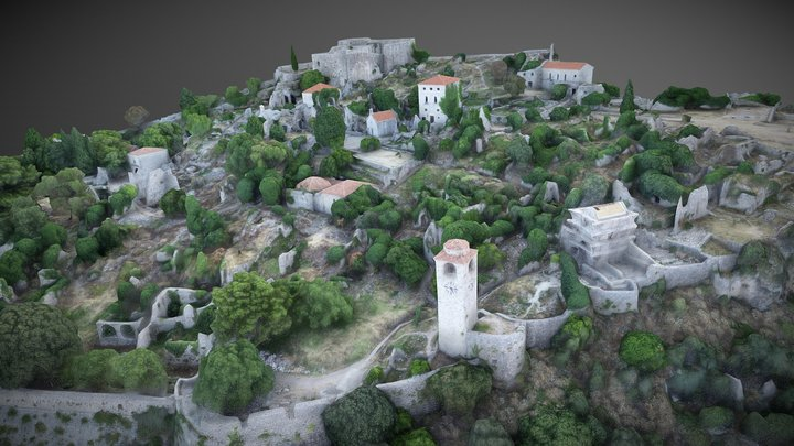 Old Town Of Bar 3D Model