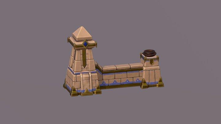 Stylized Wall Tutorial 3D Model