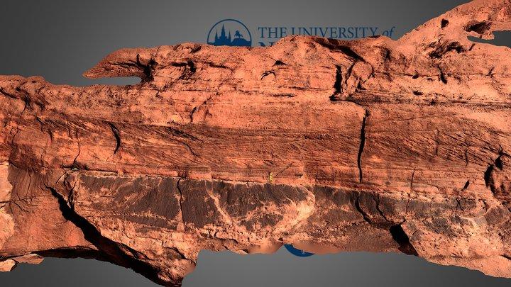 Bed form cross strata, Kayenta Formation, Moab 3D Model