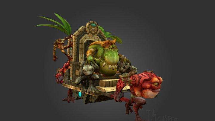 Toad King Palanquin Running 3D Model