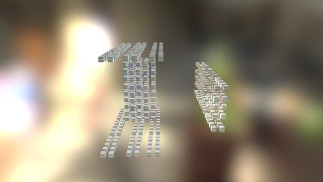 Cubes animation 3D Model