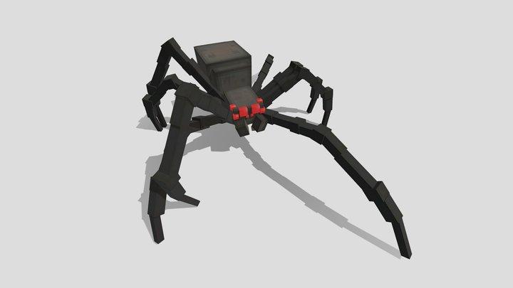 Spider Mob + Walk Cycle - Bedrock & ModelEngine 3D Model