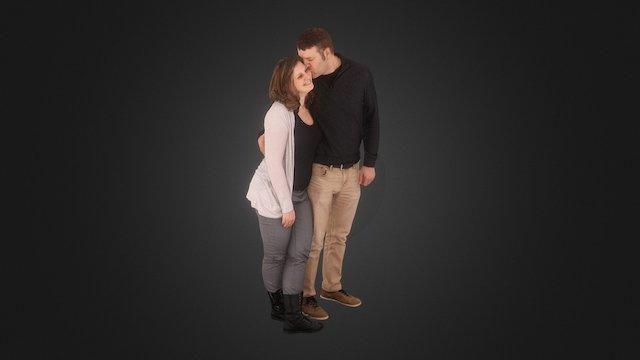 Nikki and Jeremy Swan 3D Model