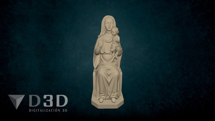 Virgen de la Cabeza 3D Model