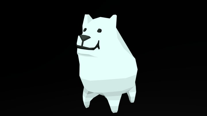 Undertale Low Poly Annoying Dog Animated 3D Model