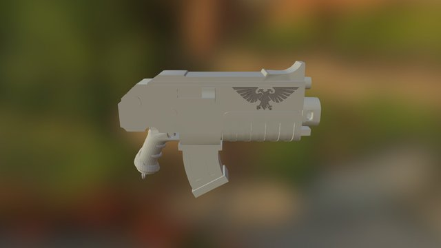 Boltgun 3D Model