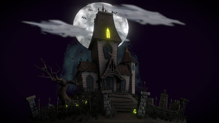 Classic Haunted House - #Haunted2018Challenge 3D Model