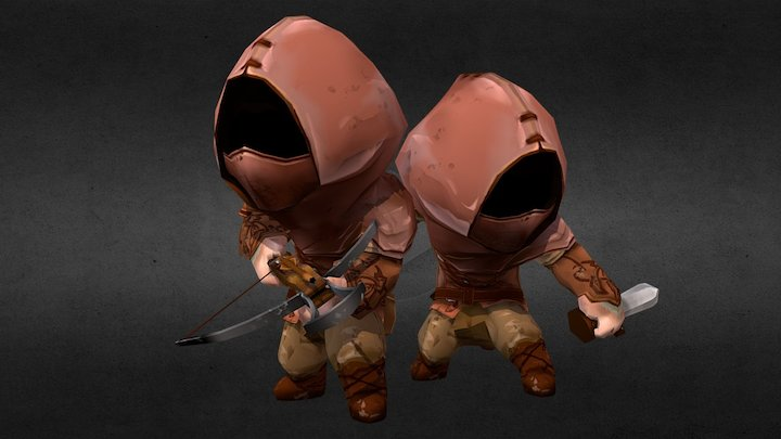 EINHERJAR Thieves 英靈戰士 盜賊嘍囉 3D Model