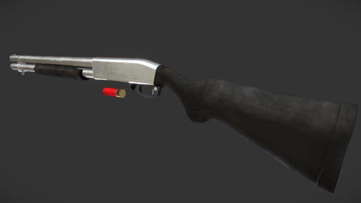 Remington 870 Marine Magnum Shotgun 3D Model