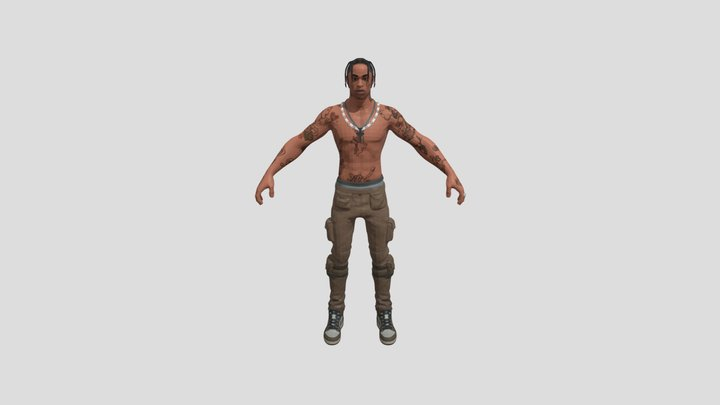 Fortnite Skins - Travis Scott Outfit 3D Model