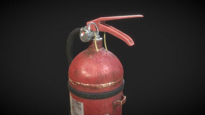Extinguisher   Game-res model 3D Model