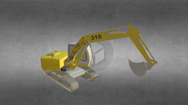 Excavator 3d Model 3D Model