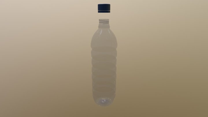 Mineral Water Drink Plastic Bottle 3D Model