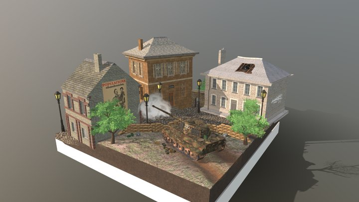 1DAE13 Laeremans Matteo City Scene 3D Model