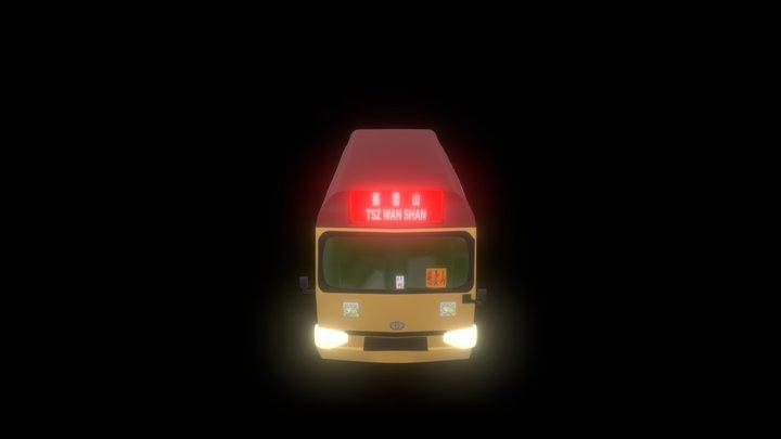 Hong Kong Mini Bus 3D Model