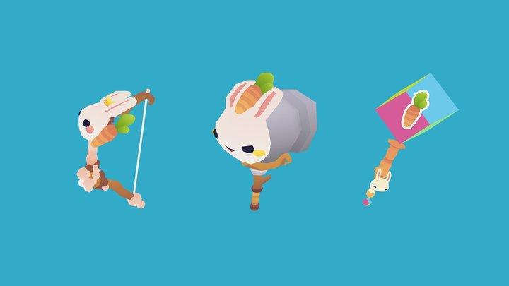 RPG ITEMS #6 - Bunny Theme 3D Model