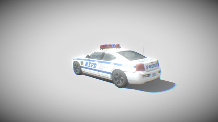 Dodge Charger Police NYPD 3D Model
