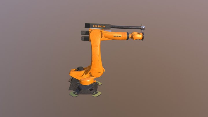 Robot Arm Animated 3D Model