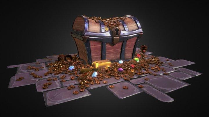 Stylized Treasure Stash 3D Model