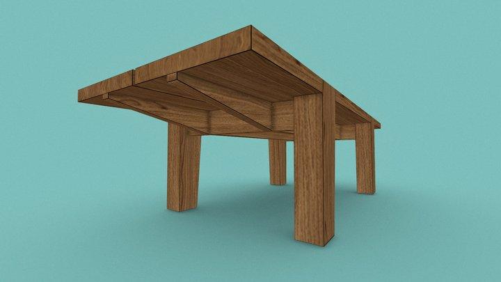 Coffe Table - European Oak 3D Model