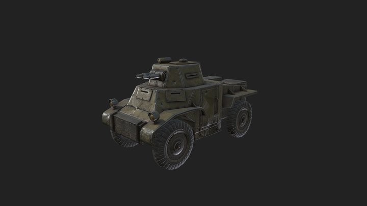 Foxhole - Colonials Armored Car 3D Model