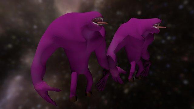 Doodle Low Poly Demon 3D Model