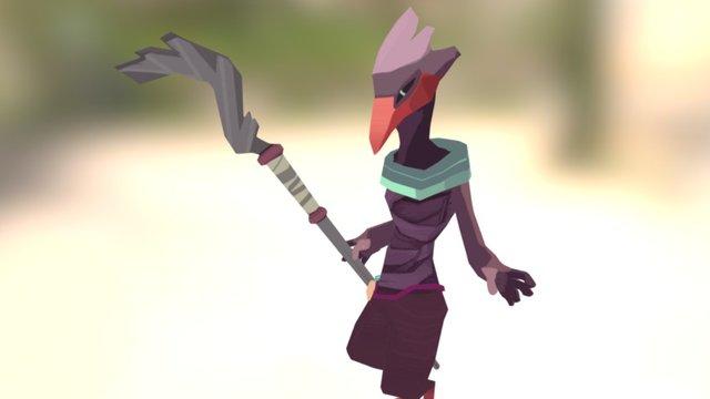The Bird Pilgrim 3D Model