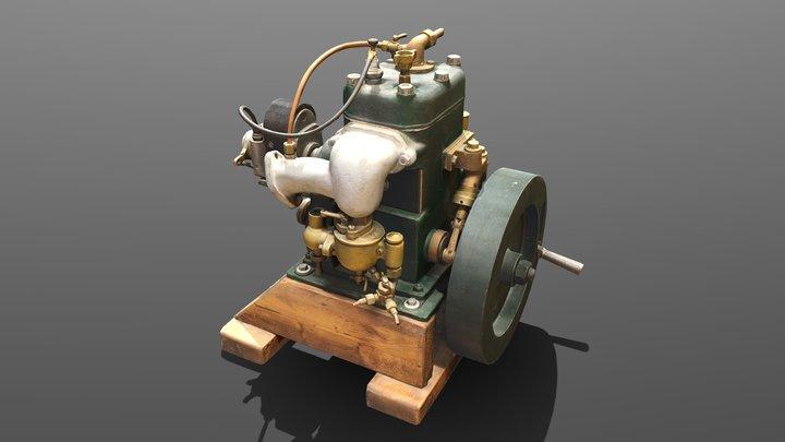 LOW Keskimoottori M.T.K - Boat engine 3D Model