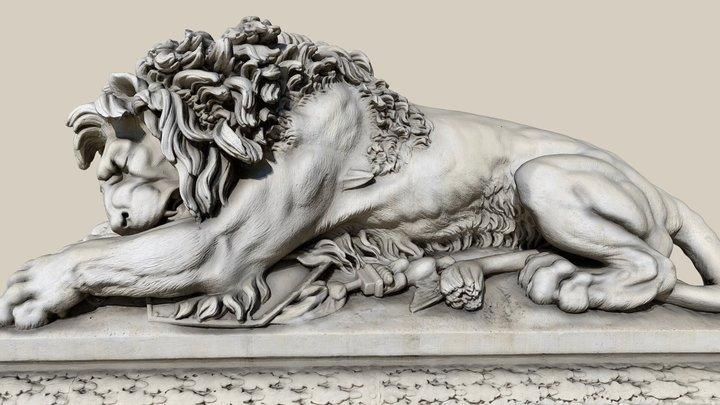 Löwe von Asparn 3D Model