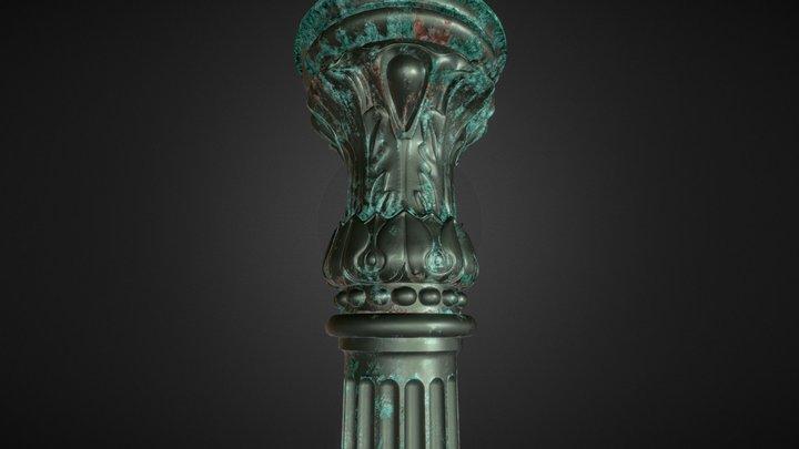 Metal column 3D Model