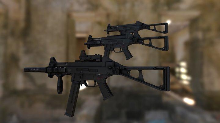 HK UMP-45 Game Ready 3D Model