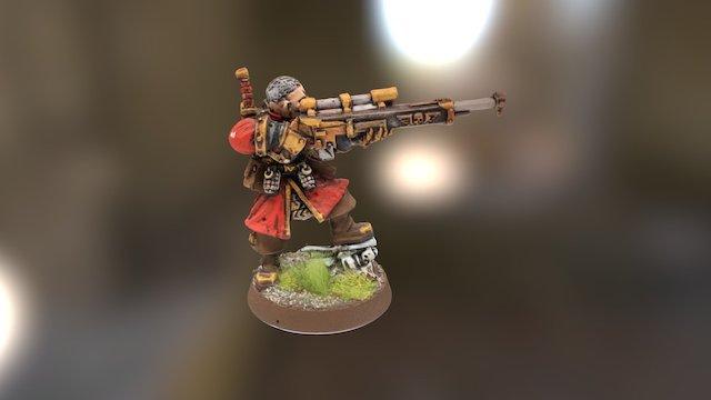 Imperial Guard - Vostroyan Marksman 3D Model