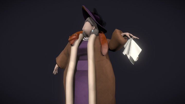 Lady Mildred 3D Model
