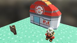 Pokemon Center from Emerald Version 3D Model