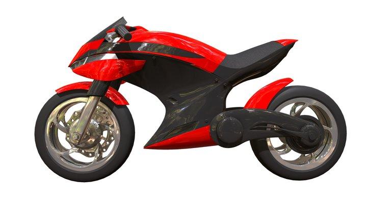 Free Concept Sport Bike 3D Model