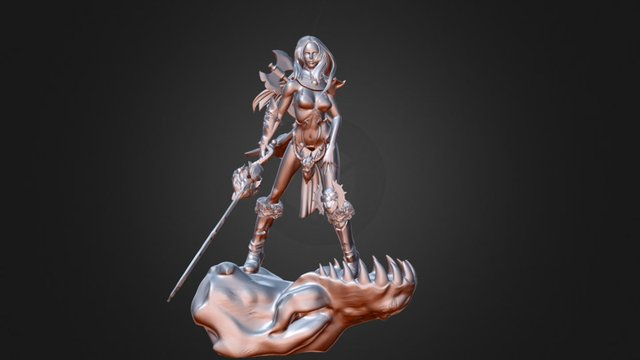 Shäldar the GIRL OF DRAGONS 3D Model