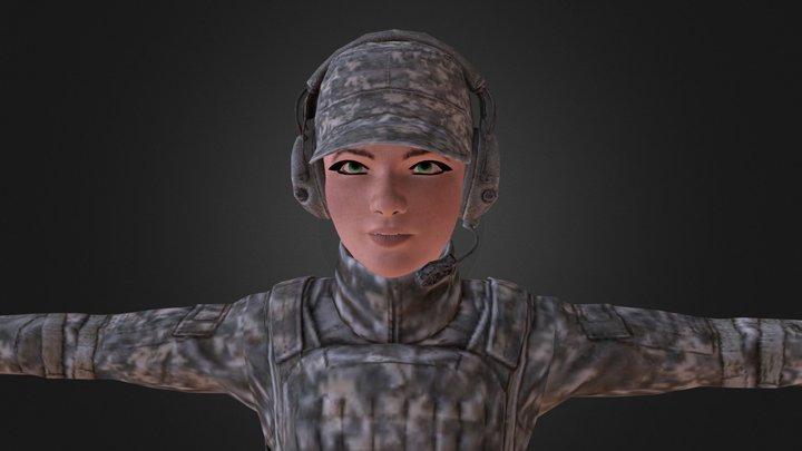 Soldier Friend 3D Model
